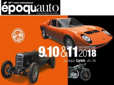 Epoqu'Auto, le salon international autos & motos anciennes 2018